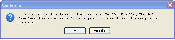Thunderbird errore nsemail