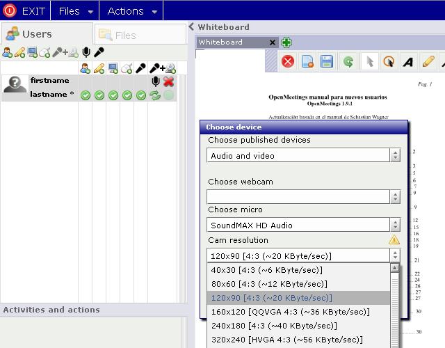 Apache OpenMeeting: Audio / Viedo Conferenza