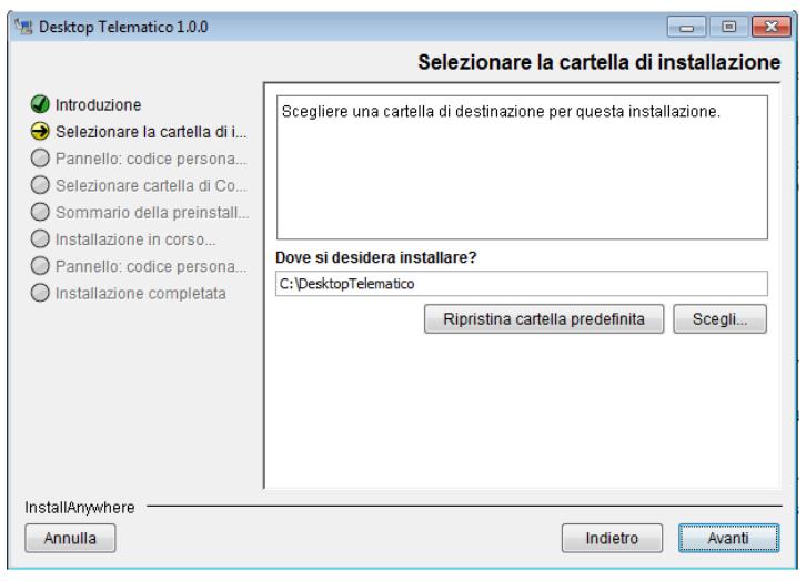 Desktop Telematico percorso installazione