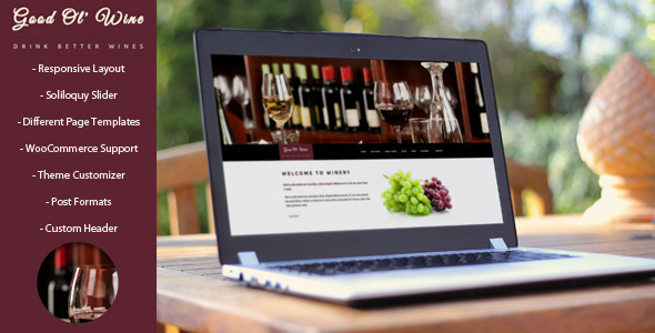 Good ol Wine - Wordpress tema