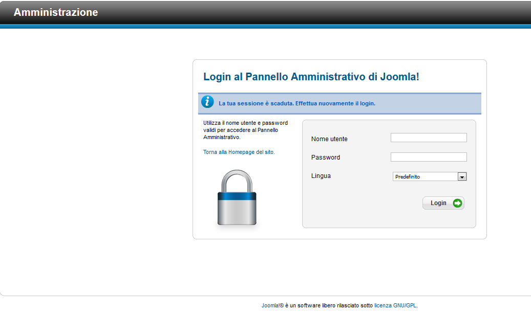 Joomla - Admin Login