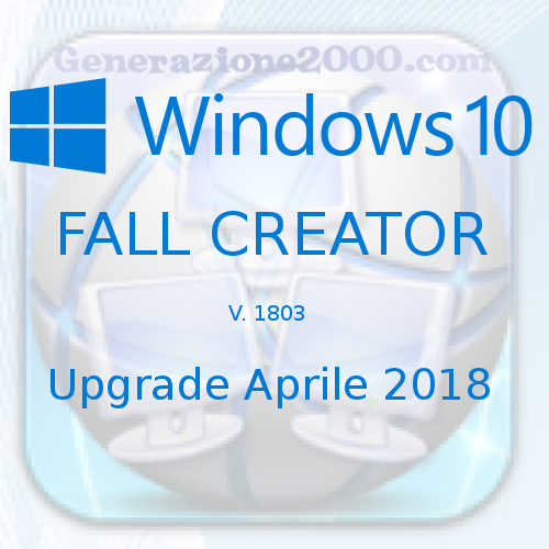 Windows 10 Fall Creator 1803 aprile 2018