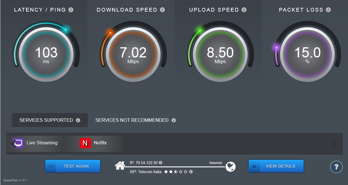 sourceforge.net Internet Speed Test
