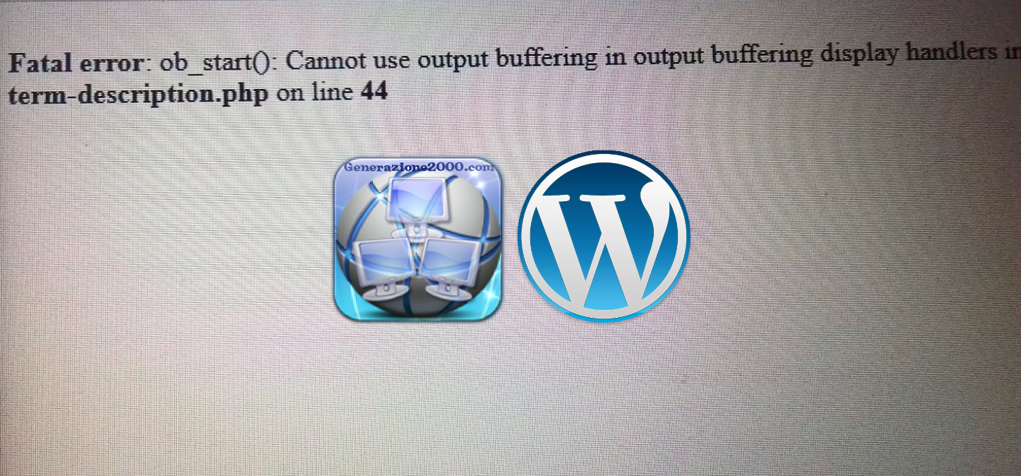 wordpress fatal error ob_start
