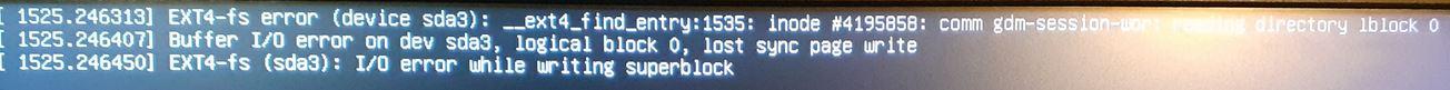Schermata di errore da terminale dopo bocco software MySql Benchmark