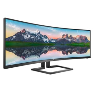 "Monitor Philips Lcd Curved Va Led 48.8"" 32:9 498p9/00 5ms Softblue Mm Dqhd 3000:1 Black 2xhdmi Dp 2xusb Vesa Fino:09/12"
