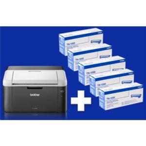 Stampante Brother Laser Hl-1212w + 5 Toner 1k Inclusi - A4  20ppm Usb Wifi 150fg Iprint&scan - Max 10pz/rag.soc. - Fino:31/03
