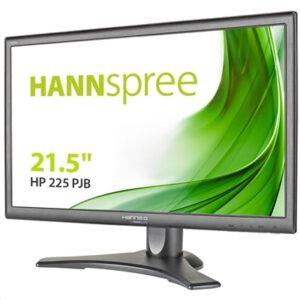 """Monitor Hannspree Lcd Ips Led 21.5"""" Wide Hp225pjb 5ms Mm Fhd 1000:1 Black Vga Hdmi Dp Reg.altezza/pivot Vesa"""