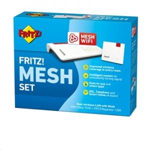 Kit Wireless Router + Extender Avm Fritz! 7530+1200 Comprensivo Di Mesh Set 7530 + 1200-ean: 4023125028974